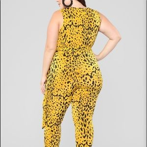 Leopard Plus Size Jumpsuit